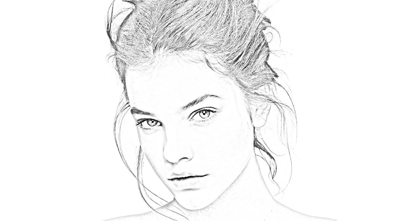 фантазию щелкайте как сделать из фото карандашный рисунок вид
