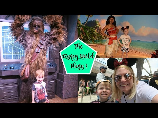 DISNEY WORLD VLOGS 2017: Day 3 HOLLYWOOD STUDIOS Meeting Moana, Frozen and Chewbacca!