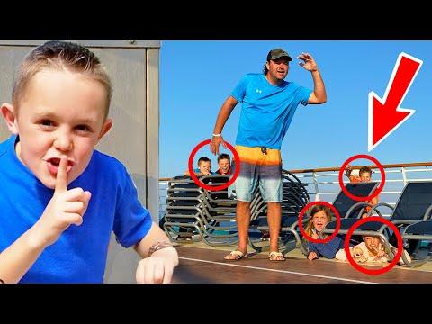 Hide And Seek On A Giant Cruise Boat W/ @Ninja Kidz TV & @SOTY