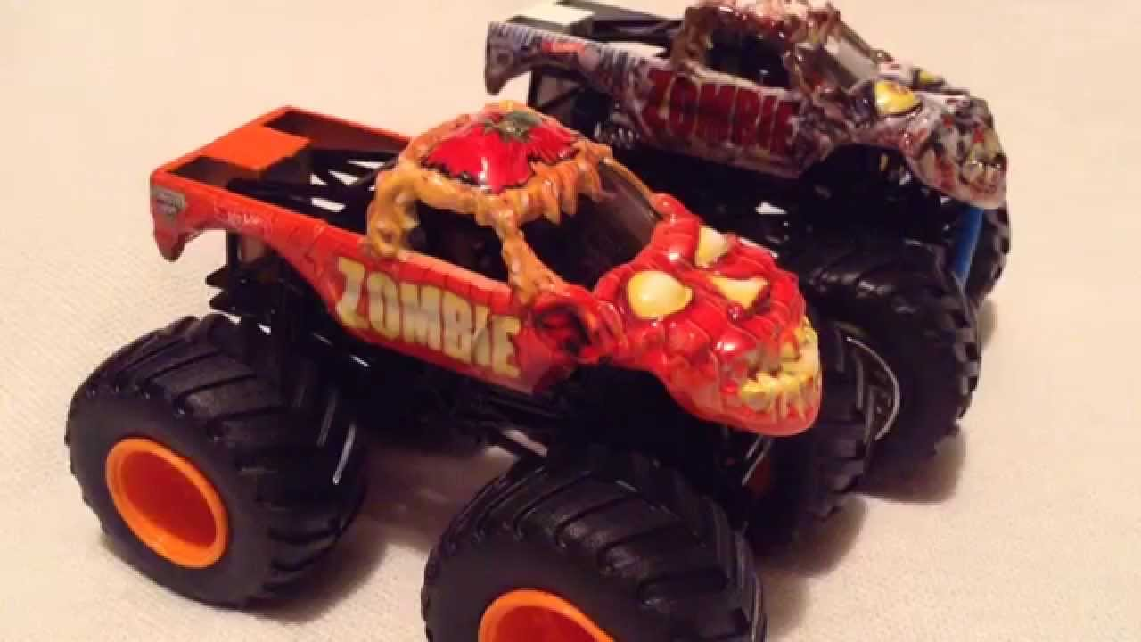 2015 Hot Wheels Limited Edition Halloween Zombie Monster Jam Truck! And Comparison!