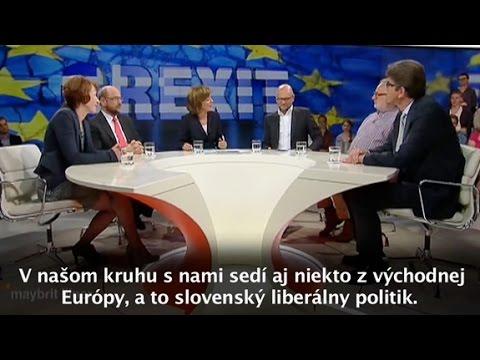 Richard Sulík u Maybritt Illner / ZDF - Únia egoistov