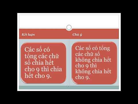 Tiết 86: Dấu hiệu chia hết cho 9 (SGK Toán 4 trang 97)