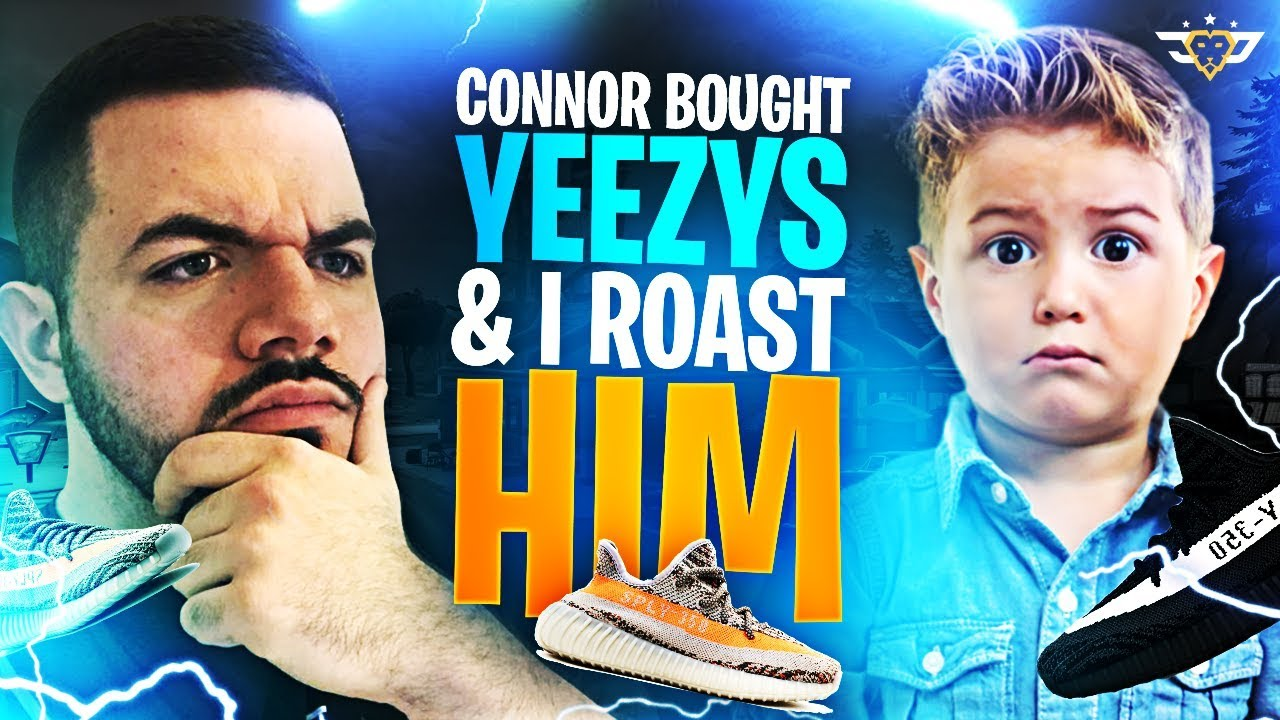 connor bought yeezys i roast him fortnite battle royale - fortnite yeezys