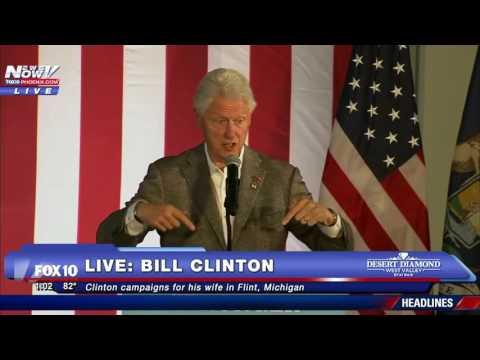 FNN: Bill Clinton Campaigns in Flint, Michigan