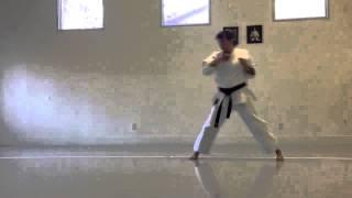 Kanku Sho regular speed and slow-motion | Shotokan karate women
