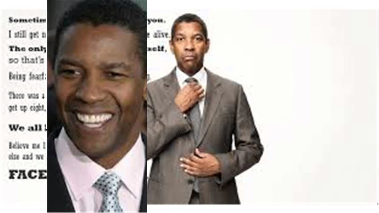 Denzel Washington Quotes Denzel Washington Quotes  Youtube