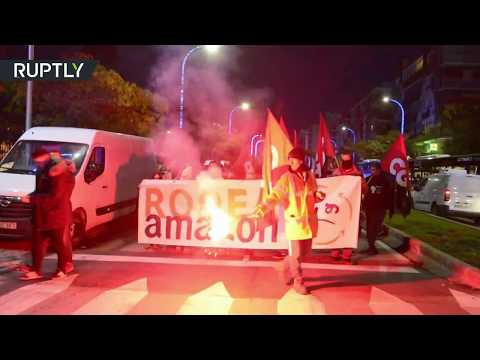 Amazon workers march on Madrid HQ after Black Friday strike