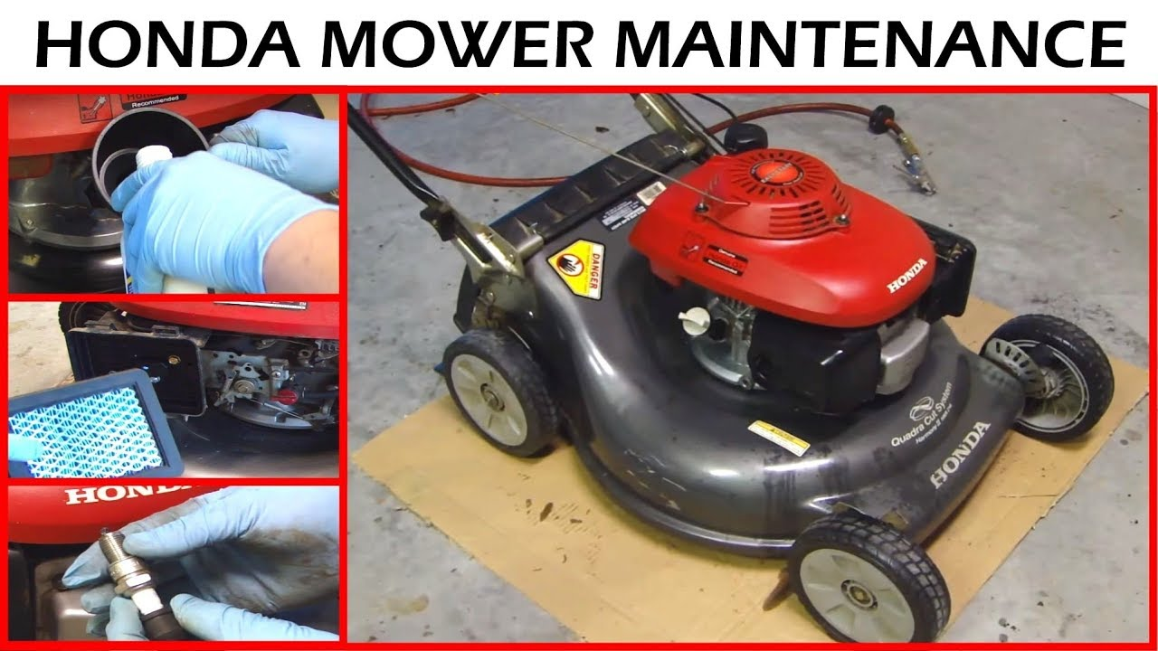 Honda Lawnmower Maintenance - Oil Change & Sharpen Blade