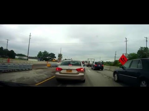 Driving in a traffic Jam around Elyria, Ohio on Route 57