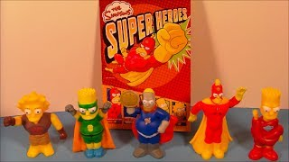2013 The Simpsons Super Heroes European Set Of 6 Burger King Kid's Meal Toy's Video Review