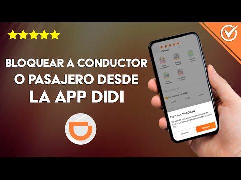 Cómo Bloquear a un Conductor o Pasajero Desde la App DIDI - Fácil y Rápido