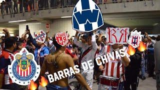 SALIDA DE LA IRREVERENTE,REJA & LEGION - CHIVAS VS MONTERREY - BARRAS DE CHIVAS