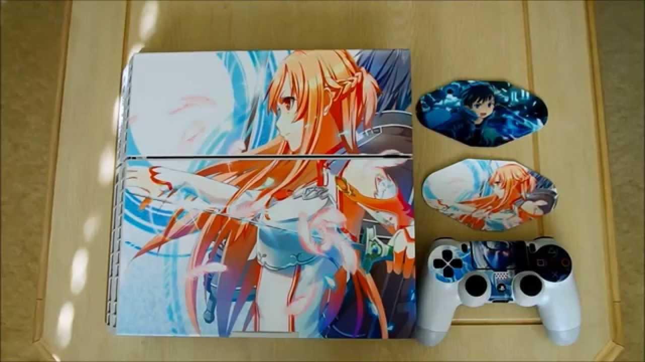 Playstation 4 Ps4 Decal Skin Sticker Tutorial Sword Art Online Sao Anime