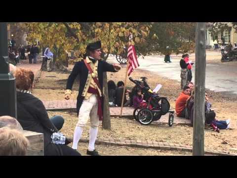 Reenactment of Colonial Williamsburg