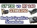 $50 vs $100 GPU - GT 730 vs R7 240 vs GTX 1050 - 4 Games Tested