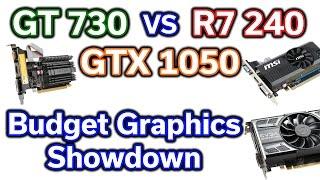 50 vs 100 GPU - GT 730 vs R7 240 vs GTX 1050 - 4 Games Tested