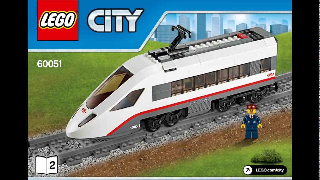 Lego High Speed Passenger Train Set 60051 Instructions Youtube