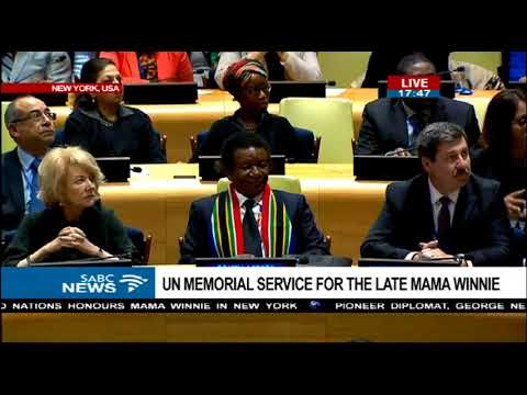 UN holds a special memorial service for Mama Winnie