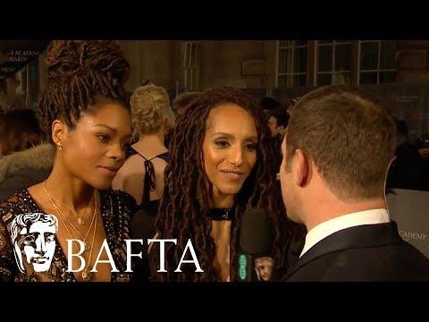 Naomie Harris and Afua Hirsch Red Carpet   EE BAFTA Film Awards 2018