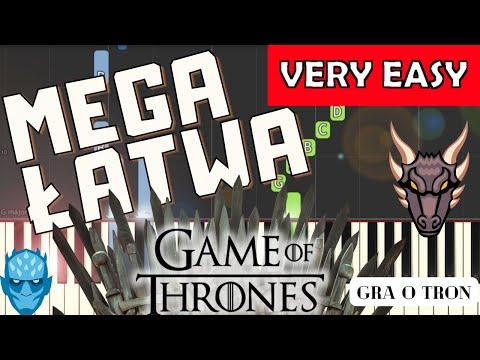 🎹 Gra o tron (motyw główny) - Piano Tutorial (MEGA ŁATWA wersja) 🎹
