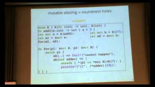 ML Family 2014: The Rust Language and Type System (Demo)