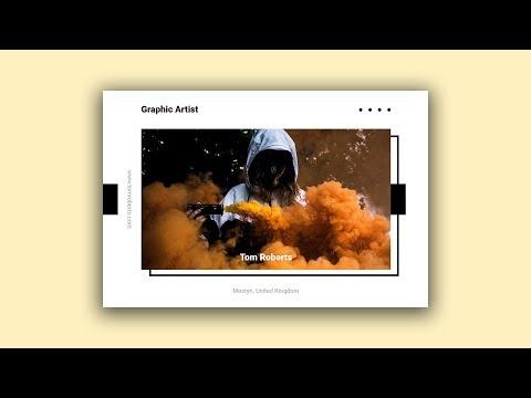 Graphic Artist Postcard - Postcard Design In Photoshop Speed Art Tutorial #04