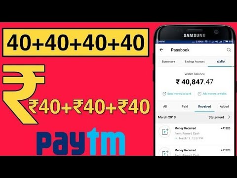Earn Rs 40 Paytm Cash Instant !!  Live Payment  Proof