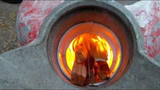Rocket stove pt 4 Firing it up!