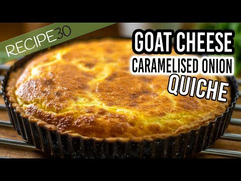 rustic-goat-cheese-quiche-with-caramelized-onion