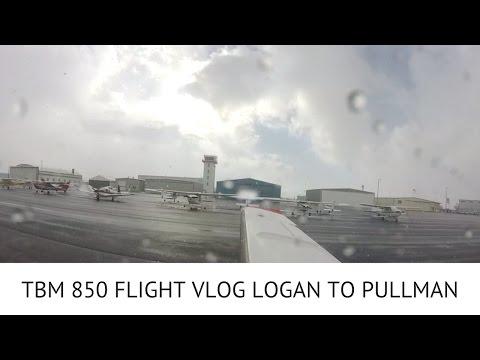 TBM 850 FLIGHT VLOG LOGAN TO PULLMAN