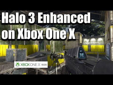 Halo 3: Enhanced Graphics on Xbox One X | The Pit & High Ground Xbox 360 Comparison