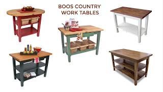 John Boos Butcher Block Tables