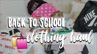 back to school clothing shopping