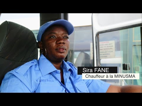 Les femmes au service de la paix au Mali – Sira, seule femme chauffeur de la MINUSMA