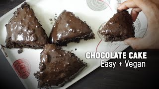 EASY CHOCOLATE CAKE (Vegan) | You won't buy Birthday Cakes after watching this