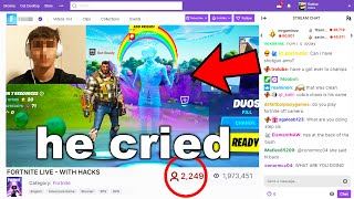 Fortnite Hacker Doesn&#39t Realize I&#39m Playing With Epic Employee...