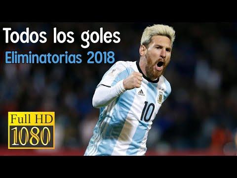 Todos los goles de Argentina: Eliminatorias Rusia 2018 - FULL HD