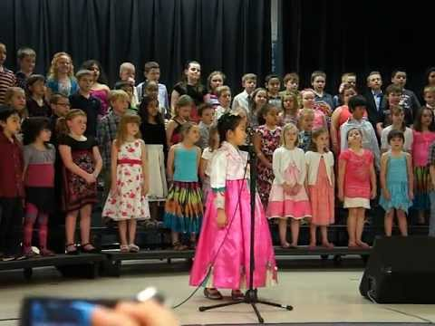 A song of peace @ Burr elementary school