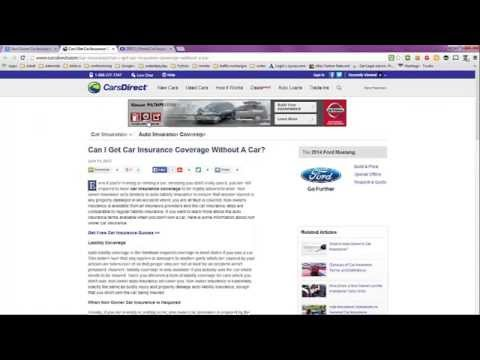 Non Owner Car Insurance Quote Gorgeous Non Owner Car Insurance Quote With Geico  Youtube