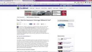 Non Owner Car Insurance Quote Geico