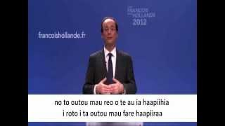 Message de François Hollande à la Polynésie