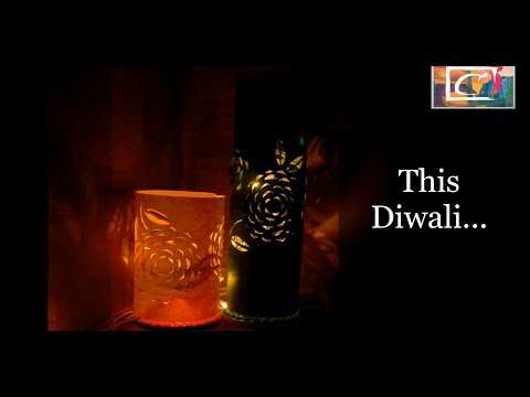 Amazing Lovely Easy Diwali Home Decoration Ideas - DIY Dimensional Paper Lantern for Lights