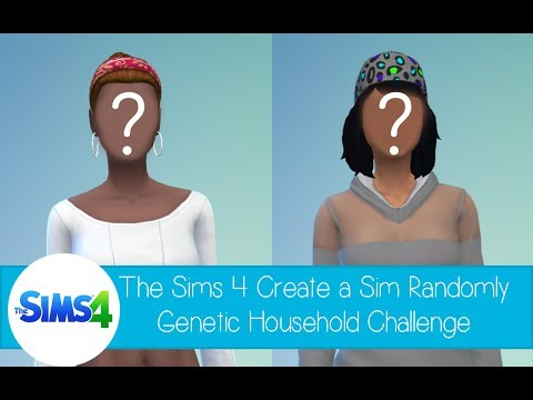 The Sims 4 Create a Sim - Randomly Genetic Household Challenge - The Kelly Family