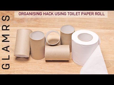 DIY Toilet Paper Roll Makeup/Desk Organizer | Craft Ideas & Hacks