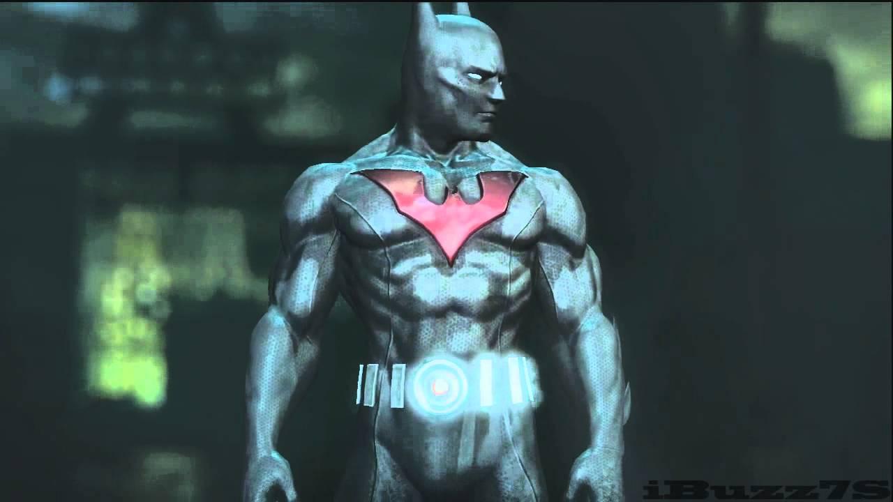 Batman Arkham City:Batman Beyond Skin Gameplay - YouTube   Batman Arkham City Batman Beyond Flying