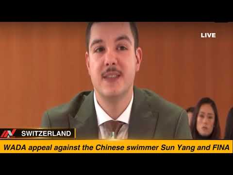 WADA Appeal Against The Chinese Swimmer Sun Yang And FINA ||SWITZERLAND