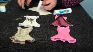 How To Make Doll Clothes (dress)