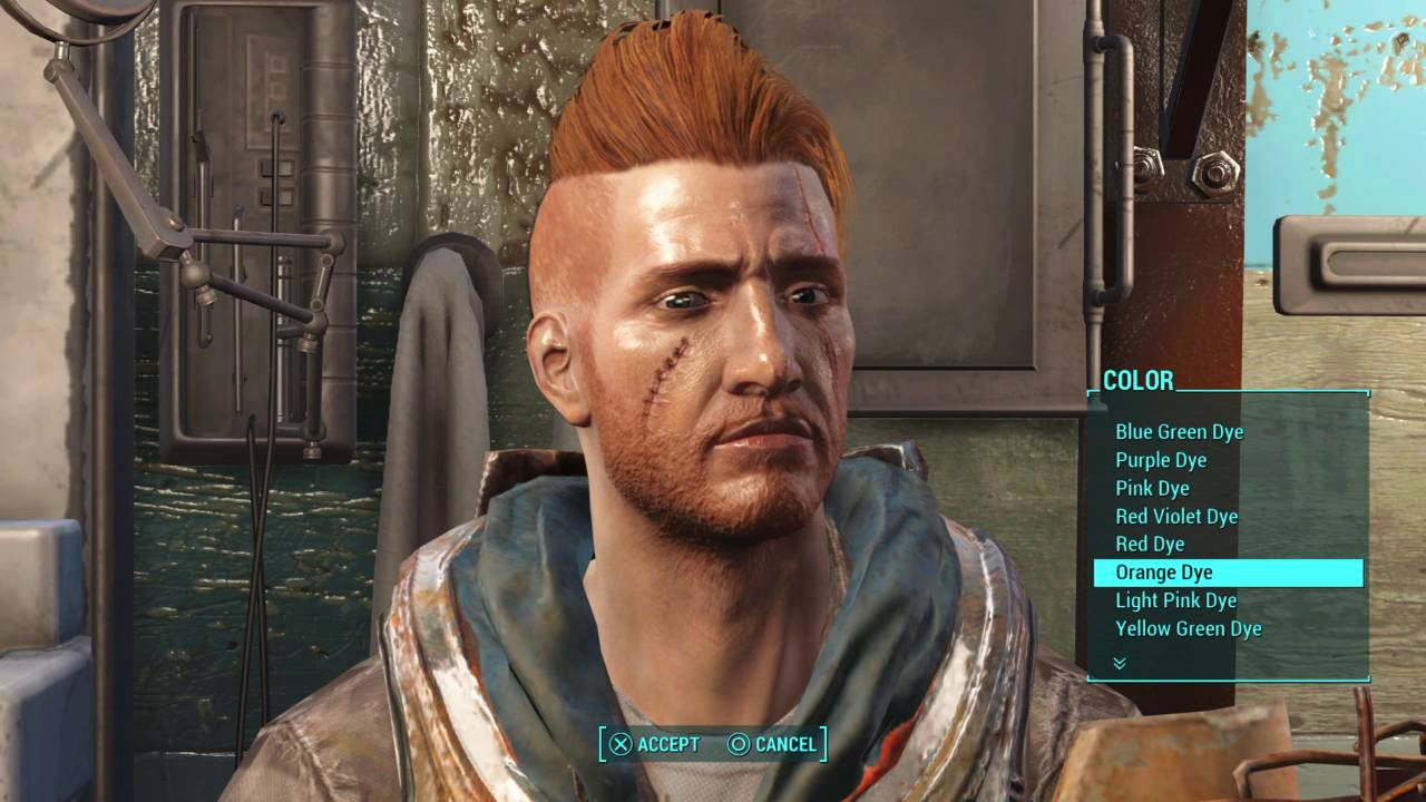 Fallout 4 Nuka World New Hair Style And Hair Dye Male