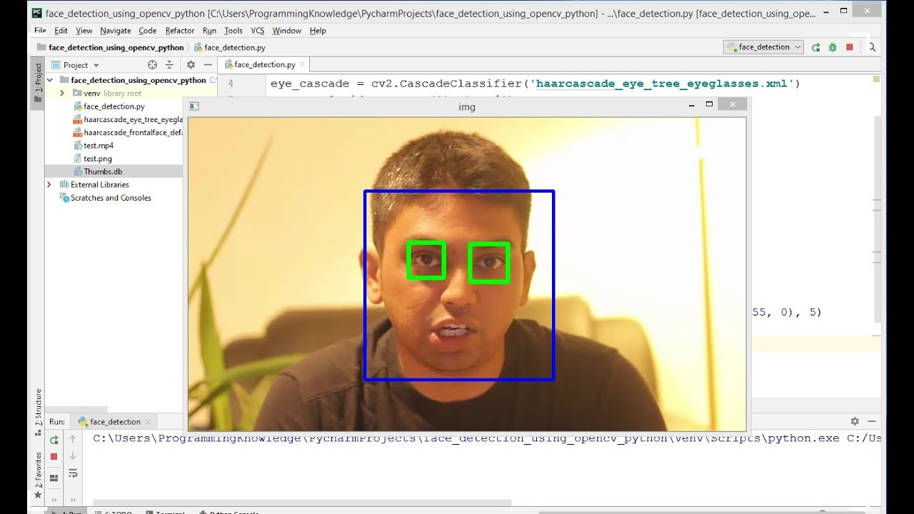 OpenCV Python Tutorial For Beginners 36 - Eye Detection Haar Feature based  Cascade Classifiers