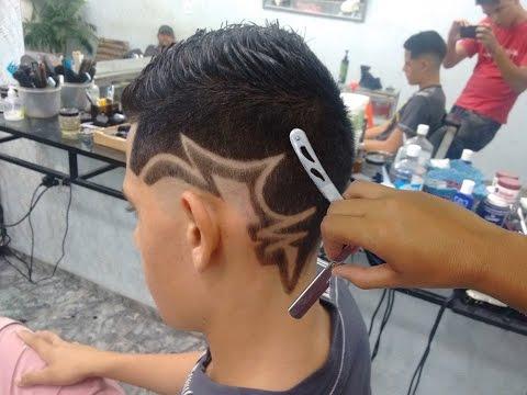 Geazi Barbeiro Corte De Cabelo Masculino Desenho Com Pigmentação